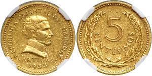 5 Centesimo Uruguay Or José Gervasio Artigas