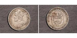 5 Centesimo Panama Silber Vasco Núñez de Balboa (1475 – 1519)