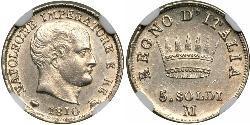 5 Centesimo Kingdom of Italy (Napoleonic) (1805–1814) Silver Napoleon (1769 - 1821)