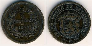 5 Centime 卢森堡 青铜/銅