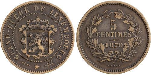 5 Centime Luxemburgo Cobre/Bronce