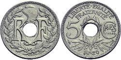 5 Centime French Third Republic (1870-1940)  Copper/Nickel