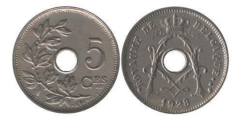 5 Centime Belgique Cuivre/Nickel