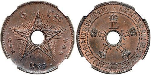 5 Centime Congo belge (1908 - 1960)