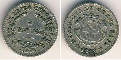 5 Centimo Costa Rica Copper/Nickel