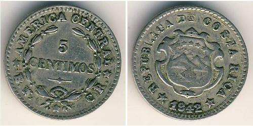 5 Centimo Costa Rica Kupfer/Nickel