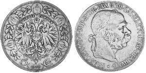 5 Corona 奥匈帝国 (1867 - 1918) 銀 弗朗茨·约瑟夫一世 (1830 - 1916)