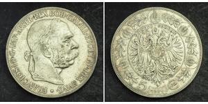 5 Corona Impero austro-ungarico (1867-1918) Argento Franz Joseph I (1830 - 1916)