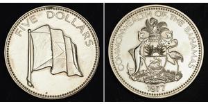 5 Dólar Bahamas Níquel/Cobre