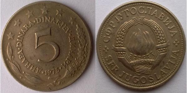 5 Denaro Repubblica Socialista Federale di Jugoslavia (1943 -1992)