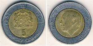 5 Dirhem Marokko Bimetall