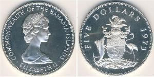 5 Dollar Bahamas 銀 伊丽莎白二世 (1926-)