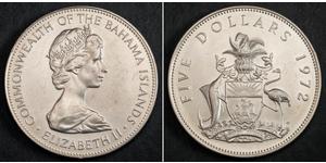 5 Dollar Bahamas Argent Elizabeth II (1926-)