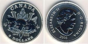 5 Dollar Canada Argent