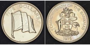 5 Dollar Bahamas Copper/Nickel