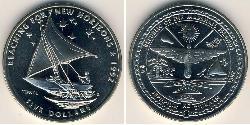 5 Dollar Marshall Islands Copper/Nickel