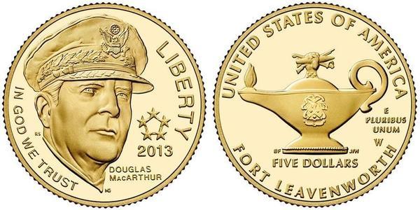 5 Dollar USA (1776 - ) Gold Douglas MacArthur (1880 - 1964)