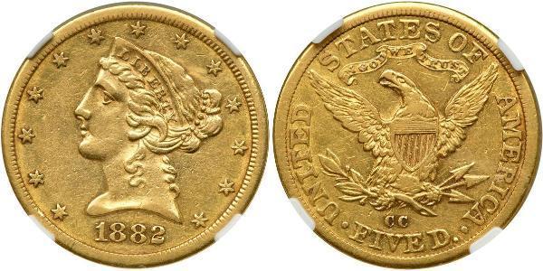 5 Dollar USA (1776 - ) Gold