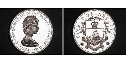 5 Dollar Bahamas Silber Elizabeth II (1926-)