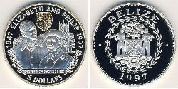 5 Dollar Belize (1981 - ) Silver