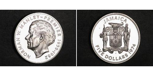 5 Dollar Jamaica (1962 - ) Silver