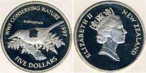 5 Dollar New Zealand Silver