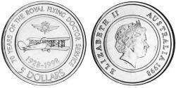 5 Dollar Australia (1939 - ) Steel Elizabeth II (1926-)
