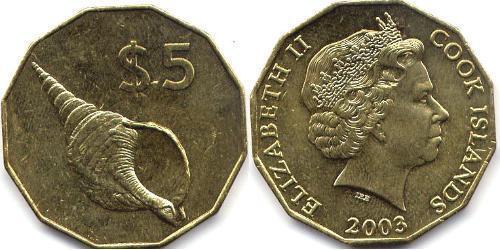 5 Dollar Cookinseln  Elizabeth II (1926-)