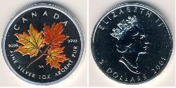 5 Dollaro Canada Argento