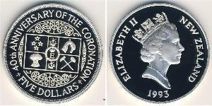 5 Dollaro Nuova Zelanda Argento