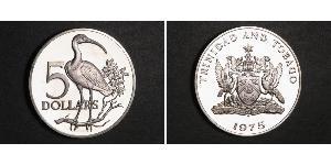5 Dollaro Trinidad e Tobago Argento