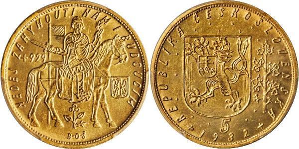 5 Ducat Cecoslovacchia  (1918-1992) Oro