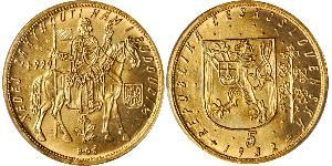 5 Ducat Checoslovaquia  (1918-1992) Oro