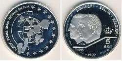 5 Ecu Belgium Silver