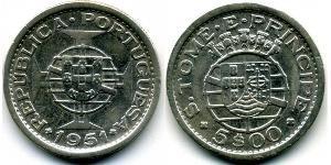 5 Escudo São Tomé and Príncipe (1469 - 1975) Copper/Nickel