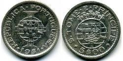 5 Escudo São Tomé e Príncipe (1469 - 1975) Rame/Nichel