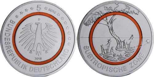 5 Euro Federal Republic of Germany (1990 - ) Copper