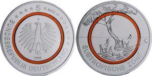 5 Euro Allemagne (1990 - ) Cuivre