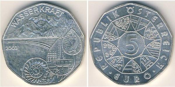 5 Euro Republik Österreich (1955 - ) Silber