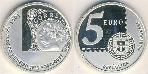 5 Euro Portuguese Republic (1975 - ) Silver
