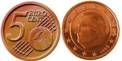 5 Eurocent Belgium Steel/Copper Albert II of Belgium