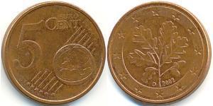 5 Eurocent Germany Steel/Copper