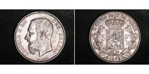 5 Franc 比利时 銀 利奥波德二世 (比利时)