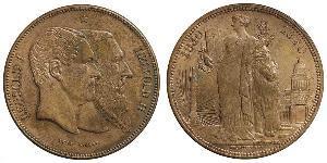 5 Franc 比利时 銀 利奥波德二世 (比利时) / 利奥波德一世 (比利时) (1790 - 1865)
