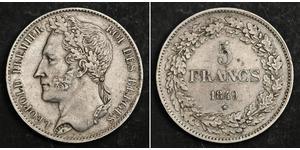 5 Franc 比利时 銀 利奥波德一世 (比利时) (1790 - 1865)