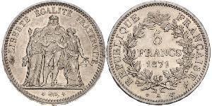 5 Franc 法兰西第三共和国 (1870 - 1940) 銀