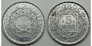 5 Franc Marocco Alluminio/Argento