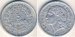 5 Franc French Fourth Republic (1946-1958) Aluminium