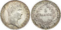 5 Franc Premier Empire (1804-1814) Argent Napoléon Ier(1769 - 1821)