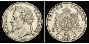 5 Franc Second Empire (1852-1870) Argent Napoleon III (1808-1873)